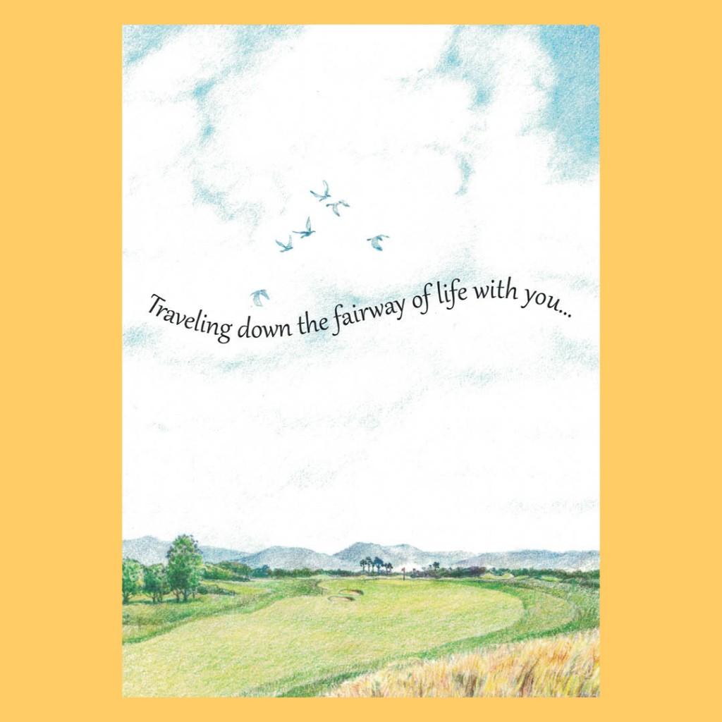 Anniversary Greeting Card – Fairway