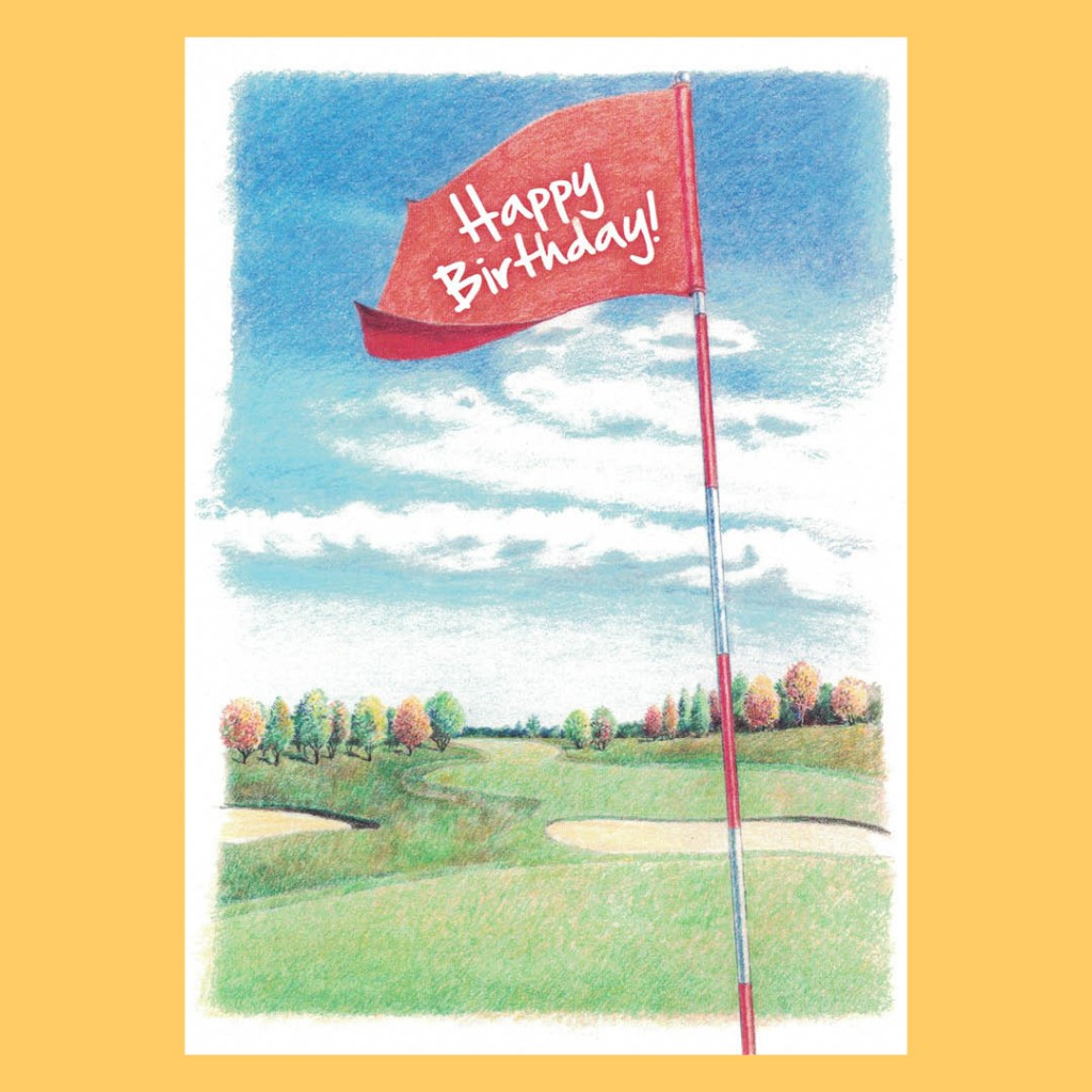 Birthday Greeting Card – Flag