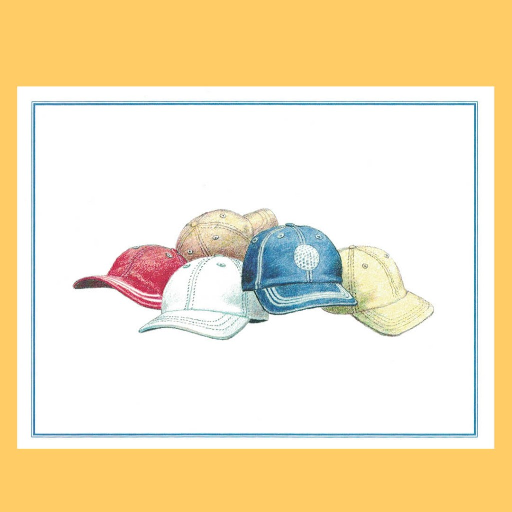 Golf Hats Note Cards –...