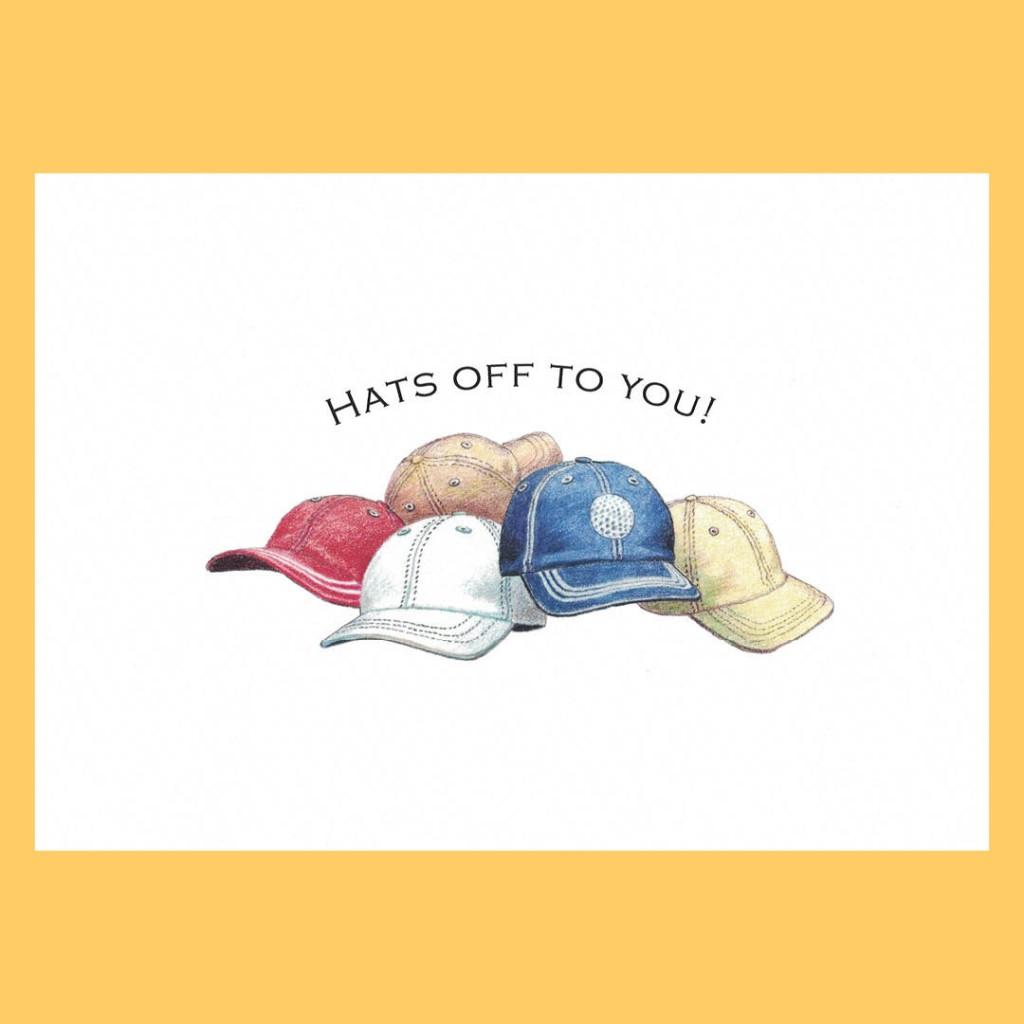 Congratulations Greeting Card – Hats